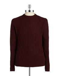 Black Brown Cableknit Cashmere Sweater Pinot Noir