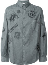 Golden Goose Deluxe Brand Patched Shirt Green