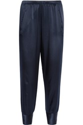 Vince Silk Satin Tapered Pants Navy