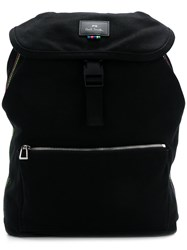 Paul Smith Ps By Logo Buckle Clasp Backpack Black