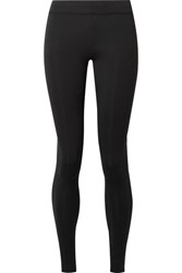 The Row Relma Stretch Scuba Leggings Black