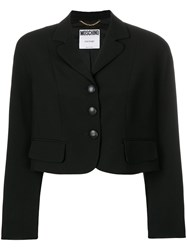 Moschino Vintage Cropped Single Breasted Jacket Black