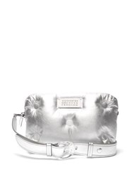 Maison Margiela Glam Slam Quilted Metallic Leather Cross Body Bag Silver