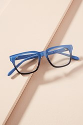 Anthropologie Napa Reading Glasses Blue Motif