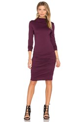 Velvet By Graham And Spencer Pietro Turtleneck Midi Dress Wine