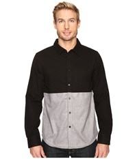 United By Blue Banff Color Block Wool Shirt Black Grey Men's Clothing