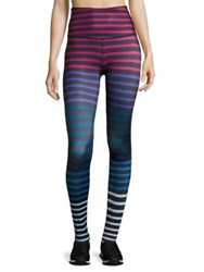 Beyond Yoga Lux Print High Waist Leggings Striped Jolie