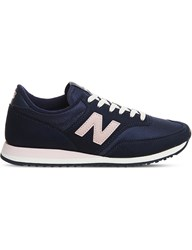 New Balance 620 Suede And Mesh Trainers Navy Blue Pink