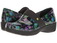 Work Wonders By Dansko Camellia Botanical Patent Women's Clog Shoes Black