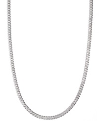 Macy's Men's Sterling Silver Necklace 24' 5 1 2Mm Chain