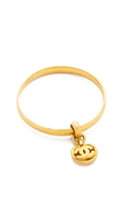 Wgaca Vintage Chanel Dangle Bangle Bracelet Gold