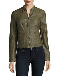 Vero Moda Faux Leather Bomber Jacket Ash Grey