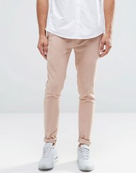 Asos Extreme Super Skinny Smart Trousers In Pink Mahogony Rose
