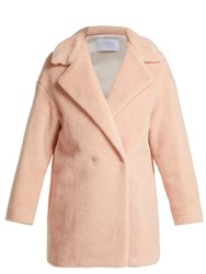 Harris Wharf London Alpaca Blend Double Breasted Coat Light Pink