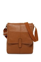 Cole Haan Pebble Leather Reporter Bag Brown
