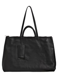 Marsell Four Handle Leather Top Handle Bag