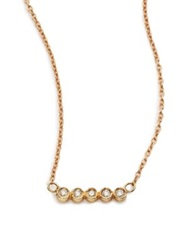 Jacquie Aiche Diamond And 14K Yellow Gold Five Bezel Necklace Goldtone