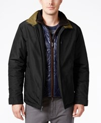 Weatherproof Vintage Men's Bomber Jacket With Attached Bib Black