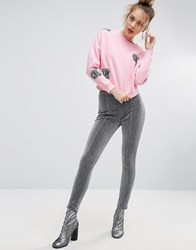 Ziztar Glitter Leggings Silver Grey