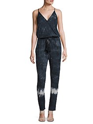 Young Fabulous And Broke Blouson Printed Jumpsuit Charcoal