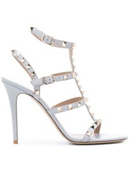 Valentino Rockstud Sandals Grey