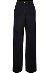 Jacquemus High Rise Wide Leg Jeans Navy