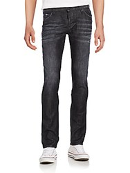 Dsquared Whiskered Slim Fit Jeans Black
