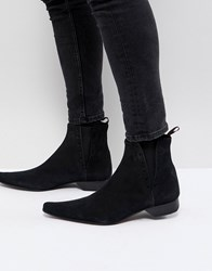 Jeffery West Pino Suede Chelsea Boots Black