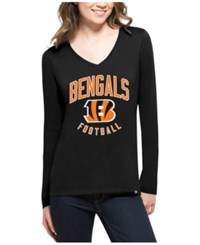 47 Brand '47 Women's Cincinnati Bengals Splitter Arch Long Sleeve T Shirt Black
