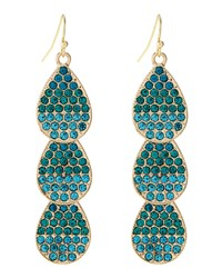 Fragments For Neiman Marcus Fragments Ombre Pave Crystal Leaf Earrings Women's