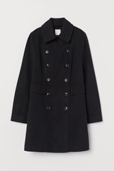 Handm H M Double Breasted Coat Black