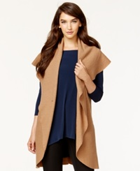 Alfani Shawl Collar Wool Cardigan Vest Only At Macy's New Camel