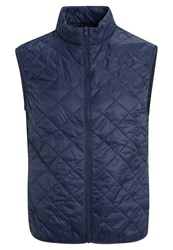United Colors Of Benetton Waistcoat Blue Dark Blue