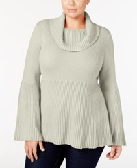 Styleandco. Style Co. Plus Size Cowl Neck Bell Sleeve Babydoll Sweater Only At Macy's Warm Ivory