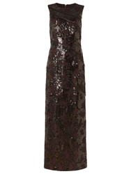 Phase Eight Collection 8 Bernadette Embellished Full Length Dress Merlot Black