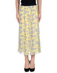 Aimo Richly 3 4 Length Skirts Light Yellow
