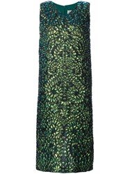 Maison Martin Margiela Lizard Print Dress Green