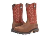 Ariat Workhog Wide Square Toe Csa Dark Earth Brick Men's Hiking Boots Orange