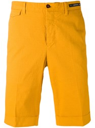 Pt01 Cuffed Shorts Men Cotton Spandex Elastane 50 Yellow Orange