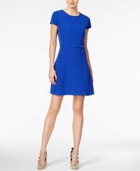 Maison Jules Pleated Fit And Flare Dress Only At Macy's Lazulite