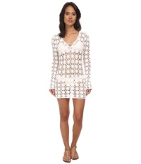 Lilly Pulitzer Wayland Crochet Tunic Resort White Women's Blouse