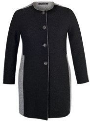 Chesca Collarless Coat Charcoal