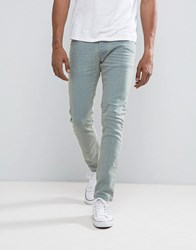 Loyalty And Faith Stretch Skinny Jean In Bleach Wash Blue