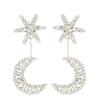 Jennifer Behr Leonida Crystal Earrings Silver