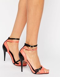 Little Mistress Strappy Heel Sandal Coral Red