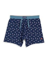 Original Penguin 3D Glasses Boxer Briefs Blue