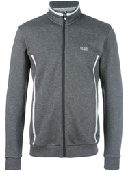 Hugo Boss High Neck Zipped Sweatshirt Grey