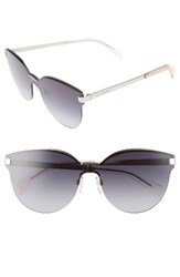 Tommy Hilfiger Women's 99Mm Rimless Cat Eye Sunglasses Matte Palladium