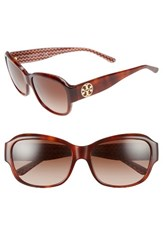 Tory Burch Women's 57Mm Gradient Sunglasses Tortoise Orange Zig Zag Tortoise Orange Zig Zag