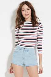 Forever 21 High Waisted Denim Shorts Light Denim